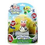 Weebledown Farm - DAISY THE COW  & Vehicle - Weebles